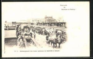 AK Barnum et Bailey, Déchargement des trains spéciaux, Zirkuszug