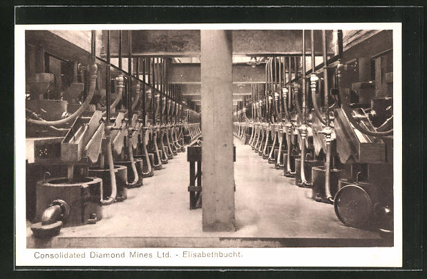 AK Elisabethbucht, Consolidated Diamond Mines Ltd., Diamantenmine, Maschinenhalle