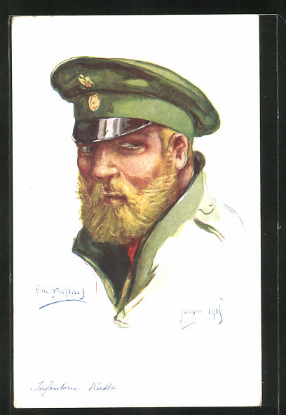 Künstler-AK Em. Dupuis: Infanterie Russe, Janvier 1915, russischer Soldat
