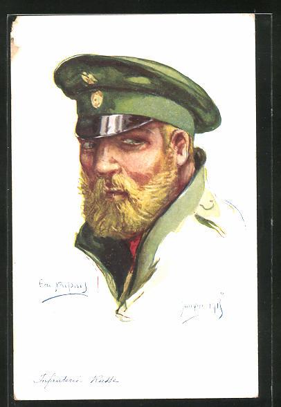 Künstler-AK Em. Dupuis: Infanterie Russe, Janvier 1915, russischer Infanterist