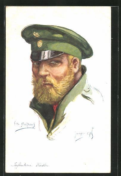 Künstler-AK Em. Dupuis: Infanterie Russe, russischer Infanterist
