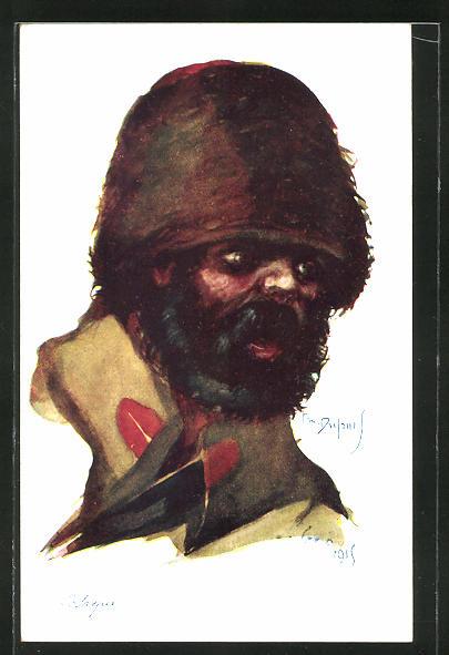 Künstler-AK Em. Dupuis: Cosaque, russischer Kosake