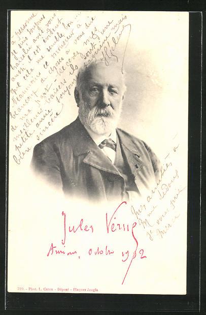 AK Portrait von Jules Verne
