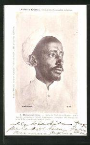 AK Eritrea, Mohamed Idris, Figlio di Naib Idris Hassan, Portrait mit Turban