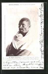 AK Eritrea, Blata Guaitoon, Capo della metà dei Tedrer, Halbportrait mit traditionellem Umhang