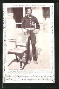 AK Eritrea, Naib Mohamed Abd-el Rakim in Uniform mit Orden