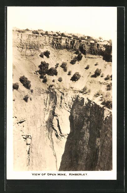 AK Kimberley, View of Open Mine, Blick auf eine Edelstein-Mine