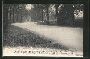 AK St-André-de-Cubzac, Strassenbau Route Nationale No 10 durch Société