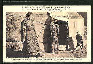 AK Ouroumtsi, L'Expedition Citroen Centre-Asie, Mongolische Prinzessin Palta