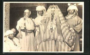 AK Präsentation einer arabischen Braut