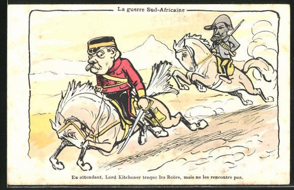 AK Le guerre Sud-Africaine, Lord Kitchener, Karikatur