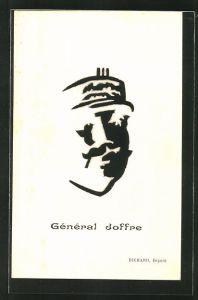 AK Heerführer General Joffre als optische Täuschung