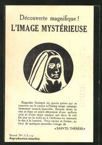 AK L'Image Mysterieuse, Schutzpatron, Sainte-Therese als optische Täuschung
