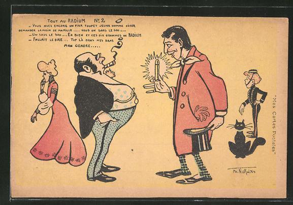 Künstler-AK sign. Norwins: Dicker Mann mit Zigarre, Mann im Mantel, Badekultur
