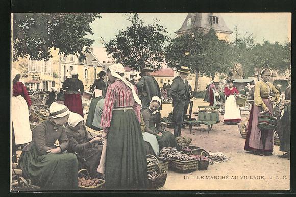AK Le Marche au Village, Marktszene