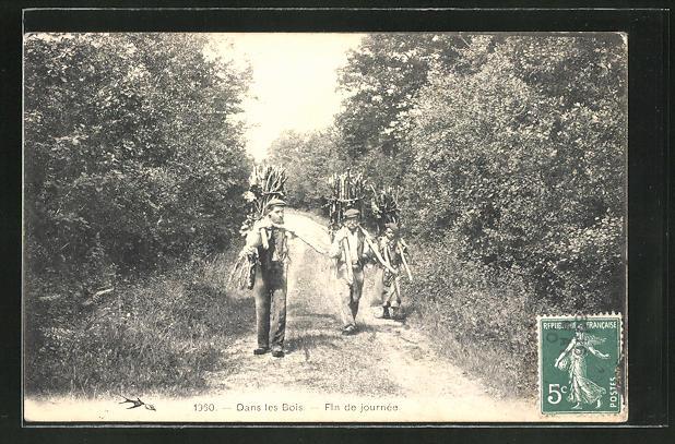AK Dans les Bois, Fin de journee, Forstwirtschaft