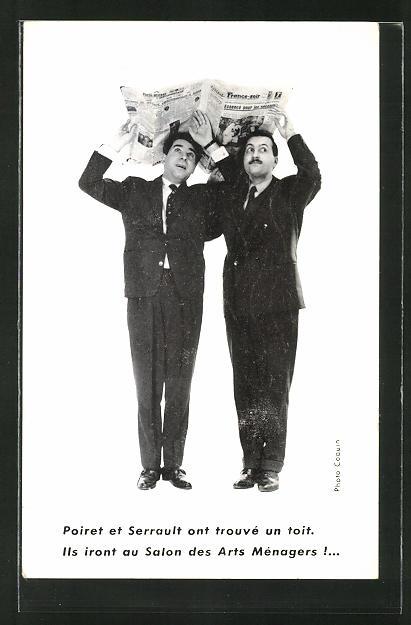 AK Poiret et Serrault ont trouve un toit, Ils iront au Salon des Arts Menagers, Variete und Zirkus