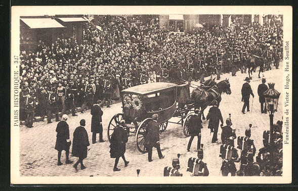 AK Funerailles de Victor Hugo, Rue Soufflot, Trauerfeier von Victor Hugo