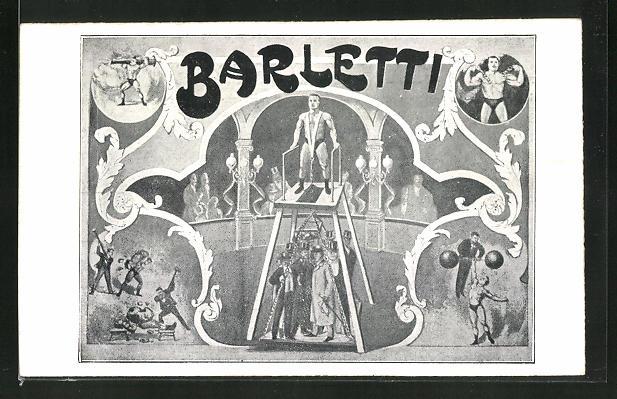 AK Vorführung von Barletti, Kraftmensch im Variete