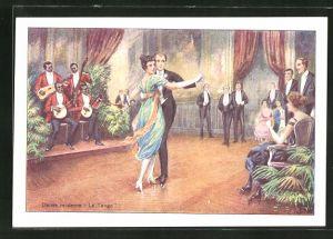 AK Danse moderne Le Tango, Paar tanzt Tango