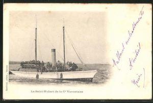 AK Passagierschiff La Saint-Hubert vor der Küste