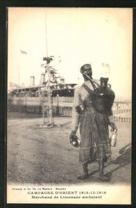 AK Campagne D'Orient 1914-1916, Marchand de Limonade ambulant, arabischer Limonadenverkäufer