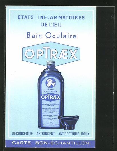 AK Werbung für das Medikament Optraex