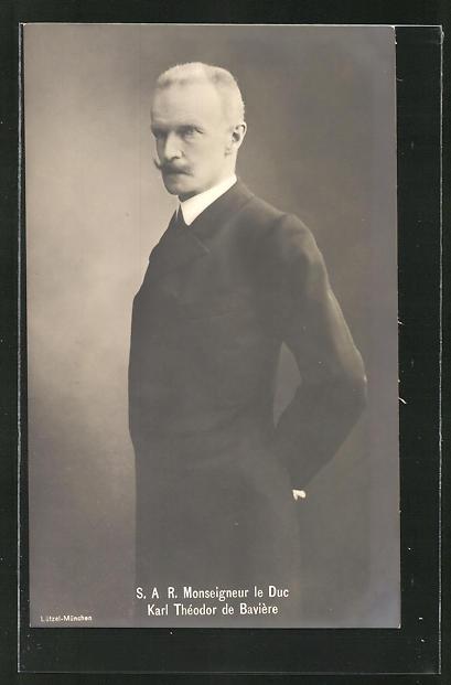 AK Porträt Karl Theodor von Bayern im Anzug