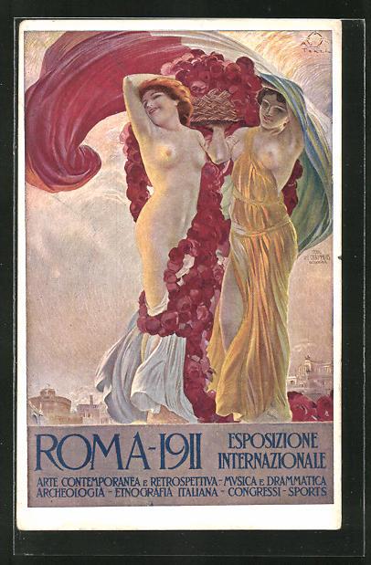 Künstler-AK Terzi: Rom, Esposizione Internazionale 1911, Arte Contemporanea e Retrospettiva