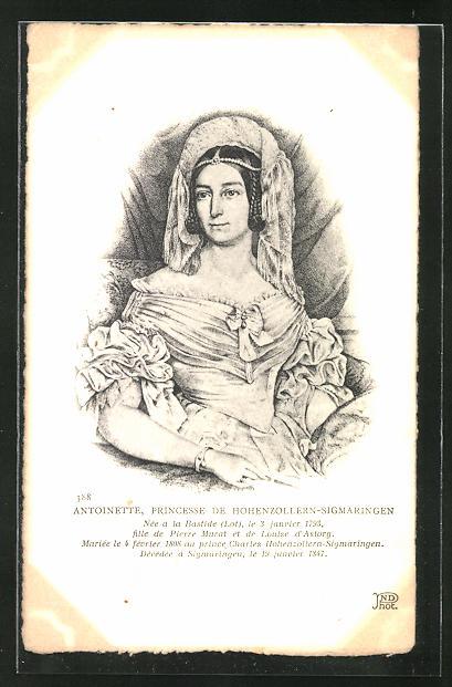 AK Porträt der Prinzessin Antoinette von Hohenzollern-Sigmaringen