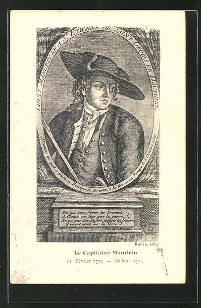 AK Bildnis des französischen Mandrin, Schmugglers und Freibeuters