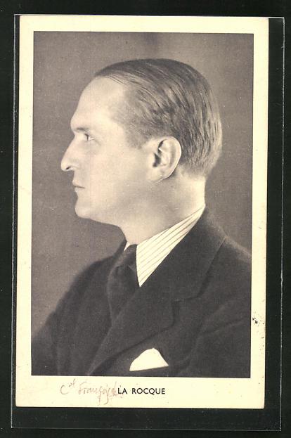 AK Bildnis des französischen Politikers Francois de La Rocque