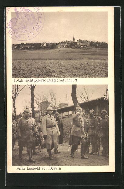 AK Prinz Leopold von Bayern, Totalansicht Kolonie Deutsch-Avricourt