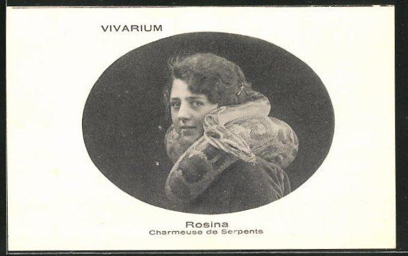 AK Rosina, Charmeuse de Serpents, Schlangenbeschwörerin, Variete