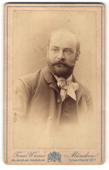 Fotografie Franz Werner, München, Portrait Herr mit Bart