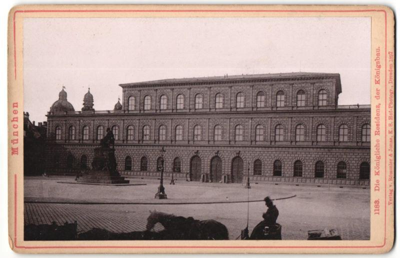 Fotografie Römmler & Jonas, Dresden, Ansicht München, königliche Residenz, Königsbau