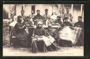 AK Libreville, Les sceurs bleues de Castres, au Gabon, Le Noviciat Indigene