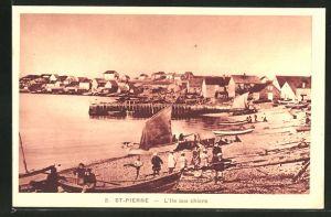 AK St. Pierre, L'Ile aux chiens, Strandpartie