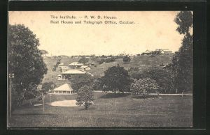 AK Calabar, the Institute, P. W. D. House, Rest House and Telegraph Office