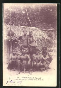 AK N'Doro, Chef de Village Chaké et sa Familie