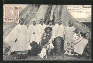 AK Bissau, Mutar, nosso auxiliar com as suas mulheres, Einheimische in Tracht