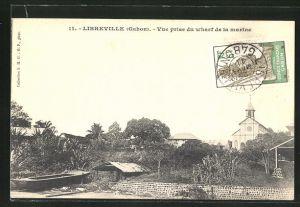 AK Libreville, Vue prise du wharf de la marine