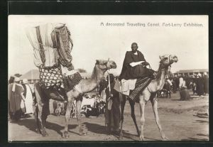 AK Fort-Lamy, Exhibition, A decorated Travelling Camel