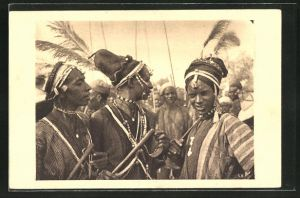 AK Tchad, Bororos en costume de fete