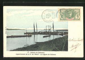 AK Cotonou, Appontement de la Cie du Wharf, La Lagune de Cotonou