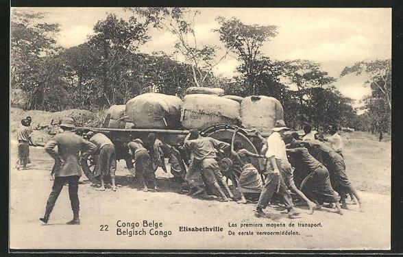 AK Elisabethville, Les premiers moyens de transport