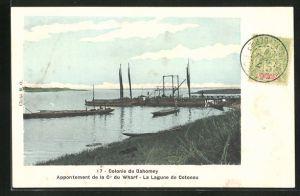 AK Cotonou, Appontement de la Cie du Wharf, La Lagune