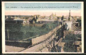AK Damas, Vue generale du centre de la ville comprenant La grande mosquee Amavy