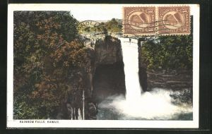 AK Honolulu, HI, Rainbow Falls