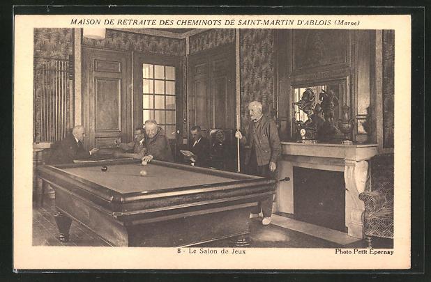 AK Saint-Martin d'Ablois, Maison de Retraite des Cheminots, Le Salon de Jeux, Billard, Pool, Snooker